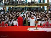 Mass in commemoration of the 200 years of the restoration of the Society of Jesus ( Jesuits )