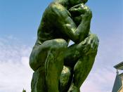 English: A photo of The Thinker by Rodin located at the Musée Rodin in Paris