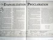 The Evangelization Proclamation, issued in 1994 pledged that the ICOC would establish a church in every major country within six years.