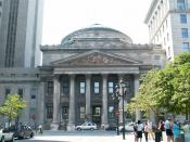 Bank of Montreal Head office, at 129 Saint-Jacques Street, in Montreal. Built in 1845 based on plans by John Wells. Español: Sede social del Banco de Montreal Deutsch: Die Bank of Montreal in Montreal, Quebec, Kanada.