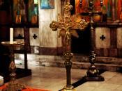 English: The inside of an Orthodox church. Greek Orthodox Church.