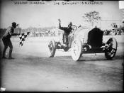Joe Dawson winning the 1912 Indianapolis 500 race