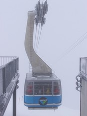 snowbird tram in snowbird ski resort in utah,USA