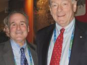 Dr. Steven Ungerleider, member of the United States Olympic Committee Sport Psychology Registry, at the presentation of the humanitarian award to Dick Pound, member of the International Olympic Committee (IOC) since 1978 and Chairman of the World Anti-Dop