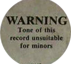 One of the first Parental Advisory logo as it appears on