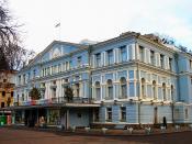 The Ivan Franko Theater of Ukrainian Drama in Kyiv, Ukraine.
