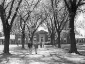 English: Grubbs Quadrangle at The Loomis Chaffee School (then the Loomis School) in Windsor, Conn. circa 1950s