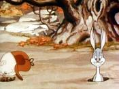 The first on-screen appearance of Bugs Bunny, from an unrestored version of the cartoon.