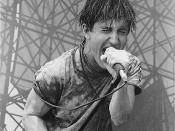 English: Trent Reznor of Nine Inch Nails during a live performance in the Lollapalooza tour