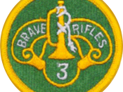 English: 3rd Armored Regiment Shoulder Sleeve Insignia