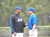 English: Darryl Strawberry (left) and Jeff Francoeur