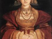 Painting of Anne of Cleves, fourth wife of the English King Henry VIII, by Hans Holbein the Younger