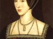 Portrait of Anne Boleyn, Henry's second queen; a later copy of an original painted in about 1534