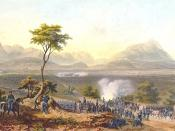 US troops marching on Monterrey during the Mexican-American War.