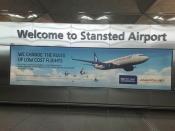 Anadolu Jet advertisement at Stansted Airport