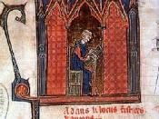 English: Adam de la Halle. Miniature in musical codex. Español: Adam de la Halle. Miniatura en un códice musical.