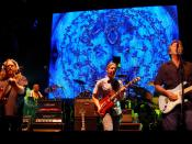 Clapton performing with The Allman Brothers Band at the Beacon Theater