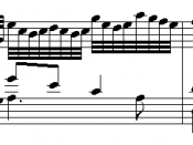 Musical quotation from Goldberg Variations (Variation 13) by Johann Sebastian Bach (1685–1750).