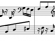 Musical quotation from Goldberg Variations (Variation 20) by Johann Sebastian Bach (1685–1750).