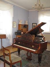 English: room of music from Robert Schumann in Zwickau (house of Robert Schumann, museum, Hauptmarkt 5) Deutsch: Musikzimmer von Robert Schumann (Ausstellungsraum im Robert-Schumann-Haus in Zwickau, Hauptmarkt 5)