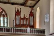 English: Hausen im Wiesental: catholic church, organ Deutsch: Hausen im Wiesental: Katholische Kirche, Orgel auf der Westempore