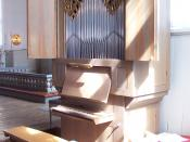 Positive organ in Karlskrona Admiralty Church, Sweden