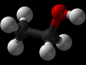 Ball and stick model of ethanol