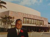 Reply postcard from the Miami Beach Auditorium in response to ticket requests for The Jackie Gleason Show and The Dom DeLuise Show television programs which both taped their shows at the venue.