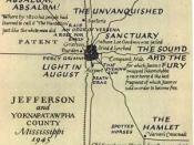 Map drawn by William Faulkner for The Portable Faulkner (1946).