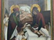 Legendary transplantation of a leg by Saints Cosmas and Damian, assisted by angels.