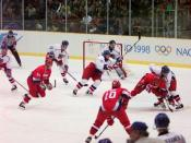 English: The mens ice hockey Gold Medal Game of the 1998 Winter Olympics in Nagano.