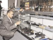 ATF inspector at a federally licensed gun dealer