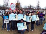 English: Pro-lifers from the 2004 March for Life.
