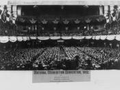 1892 Prohibition Party convention, Cinncinnati. Note: The 1892 National Prohibition Convention was held in Cincinnati, Ohio. This photo was made by a firm located in Indianapolis, Indiana, which explains why the Library of Congress information below refer