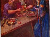 Stories of beowulf queen poring wine