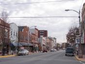 High Street in downtown Millville, New Jersey.