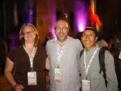 Ruben Hilari, junto a Jimmy Wales