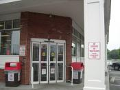 The front of a CVS/pharmacy store. Open 24 hours a day, seven days a week.