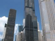 Willis Tower (formerly Sears Tower) in Chicago as seen from the Chicago river