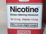 Nicotine: cigarette tin