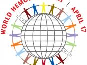 The logo of the World Hemophilia Day