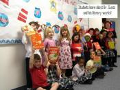 English: Students learn about Dr. Seuss and his literary works!