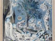 English: One of William Blake's watercolour illustrations for Robert Blair's poem The Grave.