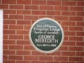 Plaque for George Meredith