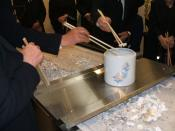 Bone-picking ceremony at a Japanese funeral