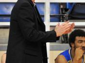 English: Picture of basketball player and coach, Shawn Swords. Wilson Wong photo.