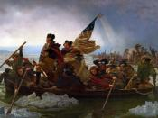 Emanuel Leutze's depiction of Washington's attack on the Hessians at Trenton on December 25, 1776, was a great success in America and in Germany.