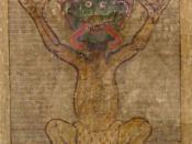 Illustration of the Devil in the Codex Gigas, folio 270 recto