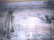 illustration de la fable de Jean de La Fontaine :Le loup devenu berger; Livre III, Fable III