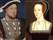English: Henry VIII and his second wife, Anne Boleyn.